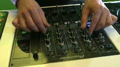 DJ mix 3 on DJM-800 Stock Footage