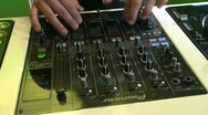Stock Video Footage of DJ mix 3 on DJM-800