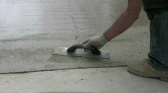 Concrete finisher Stock Footage