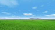 Cloudy Green Field Stock Footage