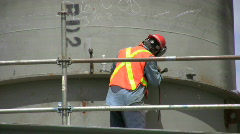 Construction worker grinding  Stock Footage