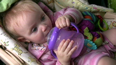 baby drinking - stock footage