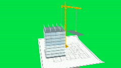 Timelapse of crane building office - v1. HD1080p Stock Footage