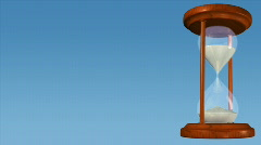 Rotating hourglass on blue background. HD720p. Stock Footage