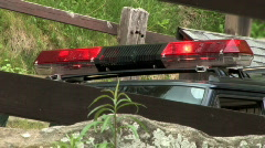 Red Rescue Police Car Lights Stock Footage