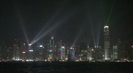 Stock Video Footage of Light Show On Hong Kong Island