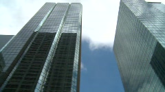 Downtown skycraper spin Stock Footage