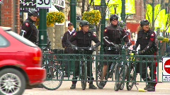 Crime and justice, police, bike police Stock Footage