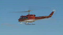 Aircraft, huey helicopter hover, #1 Stock Footage