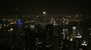 Hong Kong Famous Skyline At Night Stock Footage