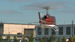 Aircraft, huey helicopter, #12 lift off and hover Stock Footage