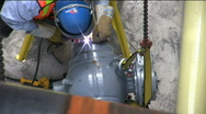 Stock Video Footage of Construction worker welding