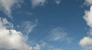 Stock Video Footage of Time Lapse Blue Skies 03