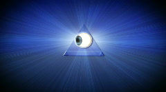 All Seeing Eye (Close Up) Stock Footage