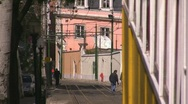Stock Video Footage of Historic tram in Lisbon, Portugal