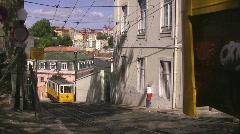 Tram in Lisbon, Portugal Stock Footage