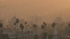 hollywood sunset 2 - stock footage