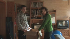 Moving, packing boxes (limelapse) Stock Footage