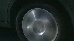 Highway car wheel Stock Footage