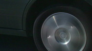 Stock Video Footage of highway car wheel