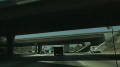 highway overpass - stock footage