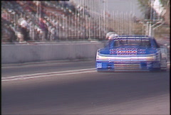 Motorsports, GT roadcourse race, GTU Oldsmobile follow tight, front straight Stock Footage