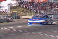 Motorsports, GT roadcourse race, GTU Oldsmobile follow Stock Footage