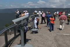 Tourists at lookout point  Stock Footage