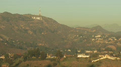 Moon over Hollywood2 - stock footage