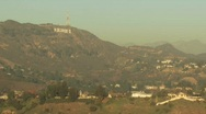 Stock Video Footage of  Moon over Hollywood2