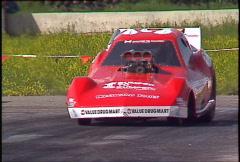 Motorsports, drag racing, nostlagia funny car  burnout Stock Footage