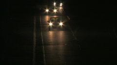 Traffic night 2 Stock Footage