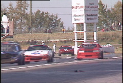 Motorsports, GT roadcourse race, front straight Stock Footage