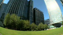 Modern city workplace Stock Footage