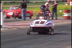 Motorsports, drag racing, skidoo, unique Stock Footage