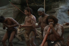 Didgeridoo & Aboriginal show  Stock Footage