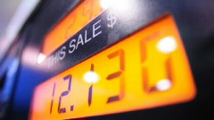 Pumping Gas Gallons Detail Stock Footage