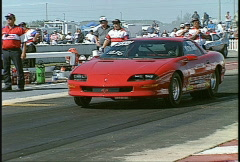 Motorsports, drag racing, Nice launch Wheels in the air! Stock Footage