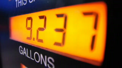 Pumping Gas Price Detail Stock Footage