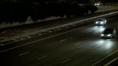 Traffic At Night 6 Stock Footage