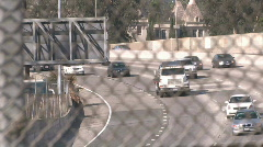 traffic fence 2 - stock footage
