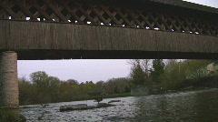 Covered Walking Bridge - stock footage
