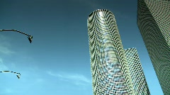 Azrieli skyscrapers 3 - stock footage