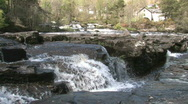 Stock Video Footage of Highland River With Small Waterfall Scotland