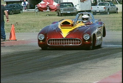 Motorsports, drag racing, Corvette convertable burnout Stock Footage