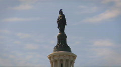 Statue of Freedom on the US Capitol Building Stock Footage