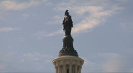 Stock Video Footage of Statue of Freedom on the US Capitol Building