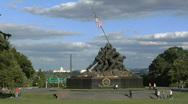 Stock Video Footage of Iwo Jima Memorial Time Lapse