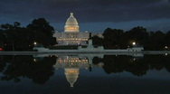 Stock Video Footage of US Capital Building at Night