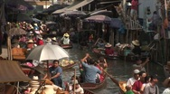 Stock Video Footage of Floating Market Bangkok Thailand
